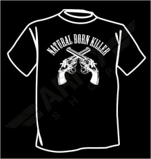 T-shirt wojskowy Natural born killer
