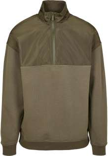 Męski polarowy pullover Military Troyer