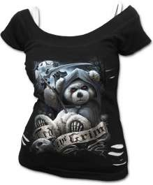 T-shirt damski TED THE GRIM - TEDDY BEAR